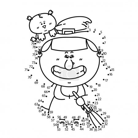 dot to dot witch game.
