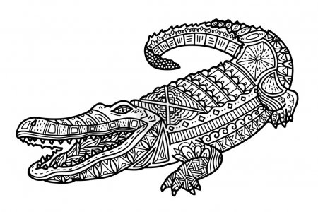 Cute ornate crocodile.