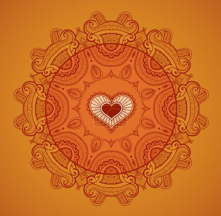 Lace background for greeting card like Indian mandala