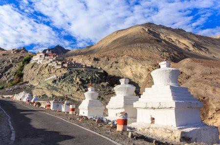 Diskit monastery in Nubra Valley, Ladakh, Jammu and Kashmir, Ind