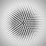 Radial halftone background. Vector illustration fo...
