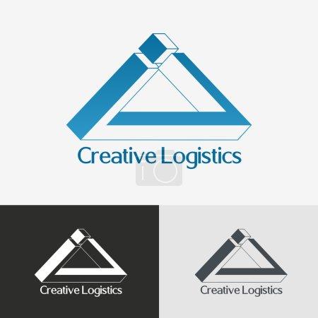 Triangle impossible vector logo design template.