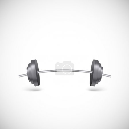 Metal barbell. Illustration of gym icons, weights ...