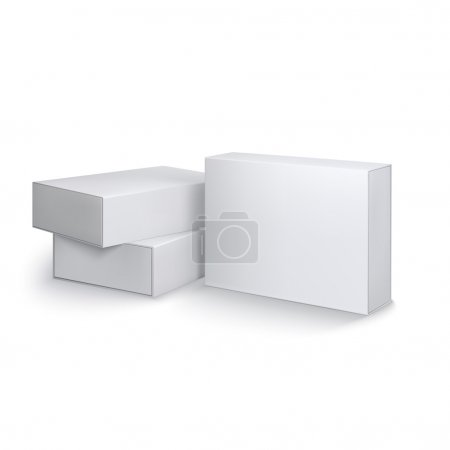 Ilustración de Package boxes - vector template for your design and presentation. - Imagen libre de derechos
