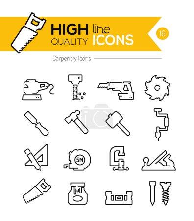 Carpentry Line Icons