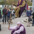 Постер, плакат: ZURICH SWITZERLAND SEPTEMBER 30 2012: Street performers put
