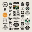 Photography vintage retro icons, badges and labels...