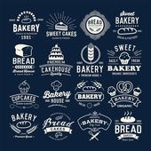 Bakery logotypes set Retro Bakery labels logos badges icons objects and elements