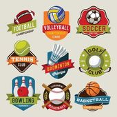 Sport logotypes set Sport design elements logos badges labels icons and objects
