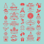 Christmas design elements logos badges labels icons decoration and objects