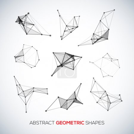 Illustration for Set of abstract vector geometric shapes for your design - Royalty Free Image