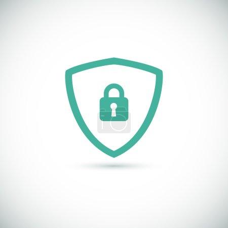 Illustration pour Bouclier icône de sécurité Web pour votre conception . - image libre de droit