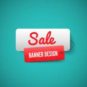 Sale 3D banner tag Sales Labels concept
