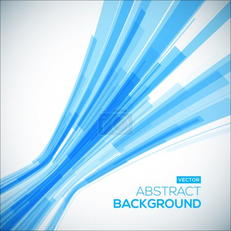 Illustration for Abstract blue geometric background. 3D perspective background - Royalty Free Image