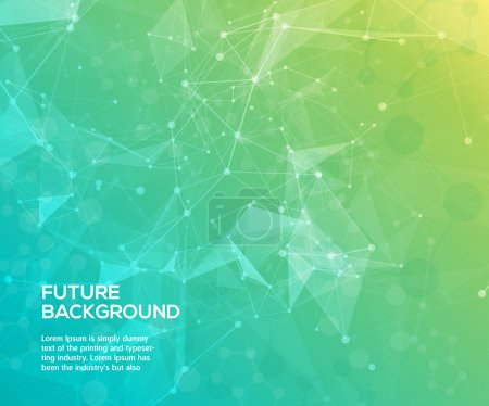 Colorful abstract background. Abstract polygonal  background with connecting dots and lines. Connection structure. Vector science background. Polygonal vector background.
