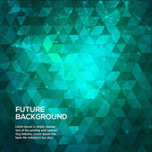 Abstract blue and green background with triangles Abstract polygonal space low poly dark background with connecting dots and lines Polygonal vector background Futuristic HUD background