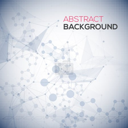 Illustration for Abstract polygonal low poly background with connecting dots and lines. Connection structure. Vector science background. Polygonal vector background - Royalty Free Image