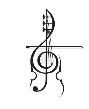 violin and treble clef