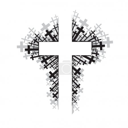 Abstract illustration of religious cross...