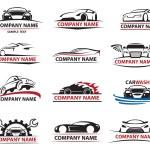 Set of twelve car icons