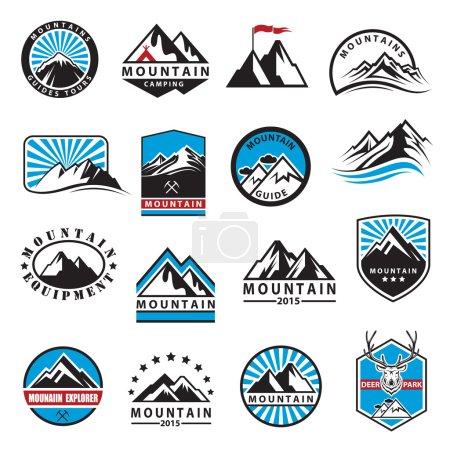 Mountain icons set