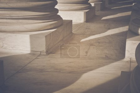 Photo for Pillars with Retro Instagram Style Filter - Royalty Free Image