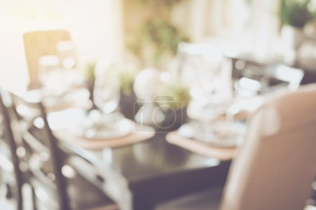 Blurred Dining Room