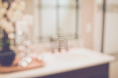 Blurred Bathroom Vanity