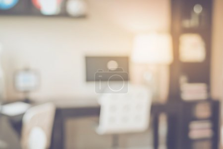 Photo for Blurred Office with Computer applying Retro Instagram Style Filter - Royalty Free Image