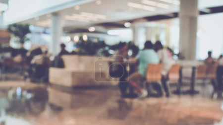 Photo for Blurred Focus Food Court at Mall - Royalty Free Image