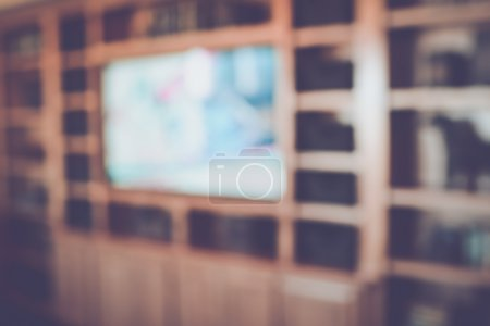 Blurred Home Entertainment Center