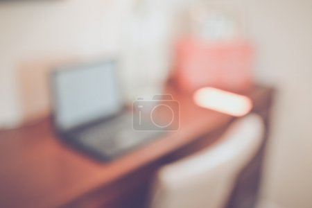 Blurred Office with Computer