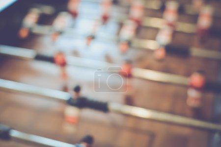 Blurred Football Table
