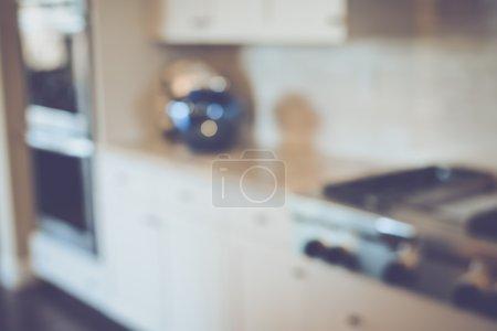 Blurred Kitchen Stove