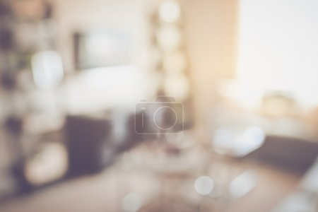 Blurred Living Room with Television  as background