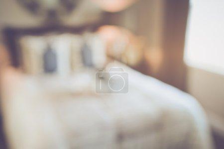 Blurred Master Bedroom  as background