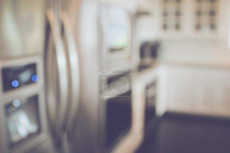 Blurred modern Kitchen