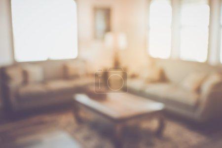 Blurred Modern Living Room
