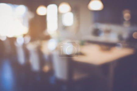 Photo pour Cuisine moderne floue avec filtre de Style rétro Instagram - image libre de droit