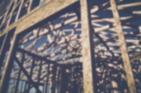 Floue maison en Construction
