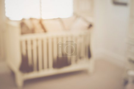 Blurred Baby Crib