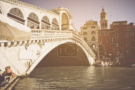 Photo for Venice Italy Canal in Retro Instagram Style Filter - Royalty Free Image