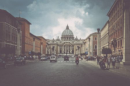 Blurred Image of the Vatican