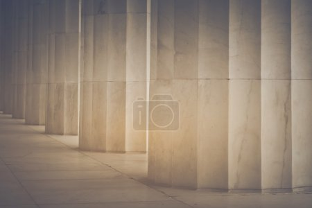 Pillars in Retro Instagram Style