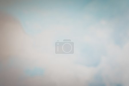 Blurred Blue Sky and White Cloud Background