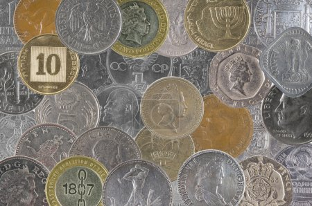 Coins of different countries of the world