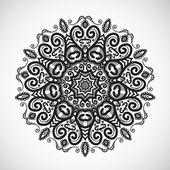 Beautiful ethnic floral ornament.