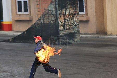 Stunt Man on Fire