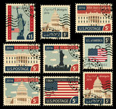 stamps with United States of America landmarks