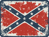 Confederate Rebel flag Grunge on a wooden board